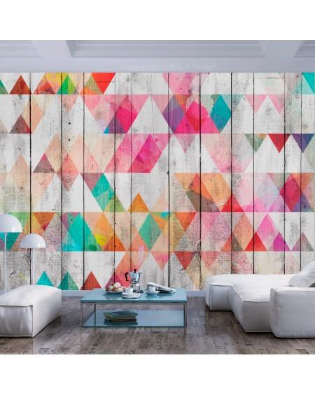 Samolepilna fototapeta Rainbow Triangles