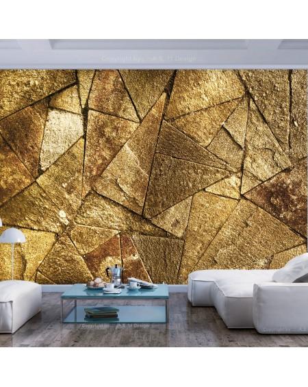 Samolepilna fototapeta Pavement Tiles (Golden)
