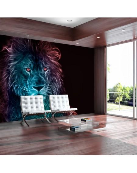 Samolepilna fototapeta Abstract lion rainbow