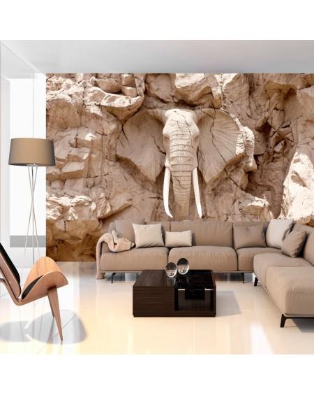 Samolepilna fototapeta Elephant Carving (South Africa)