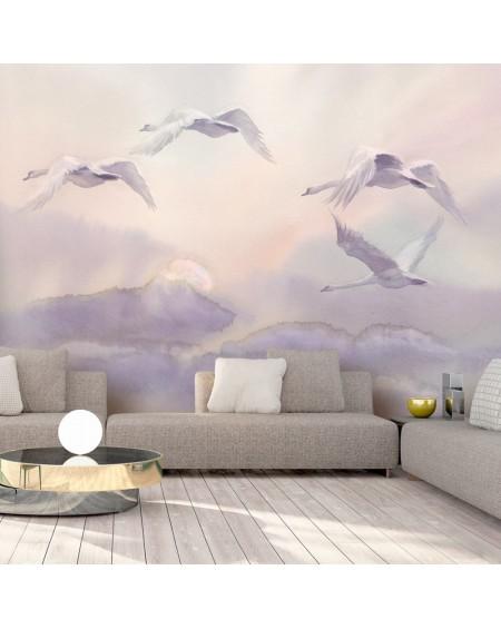 Samolepilna fototapeta Flying Swans