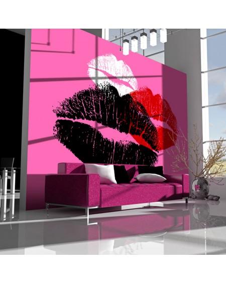 Stenska poslikava Three kisses