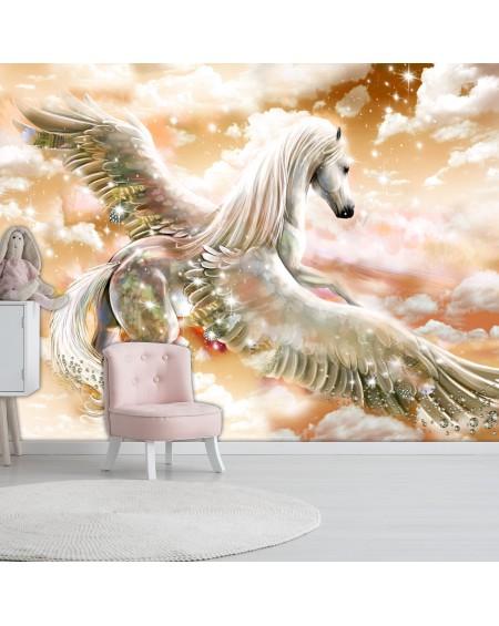Samolepilna fototapeta Pegasus (Orange)