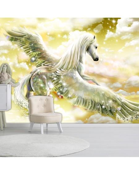 Samolepilna fototapeta Pegasus (Yellow)