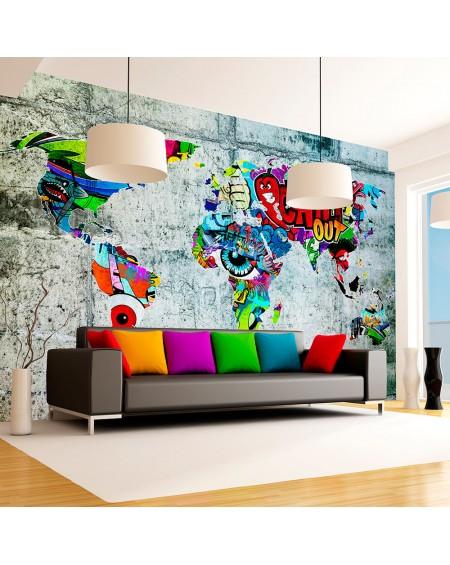 Samolepilna fototapeta Map Graffiti
