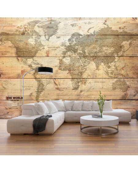 Samolepilna fototapeta Map on Boards