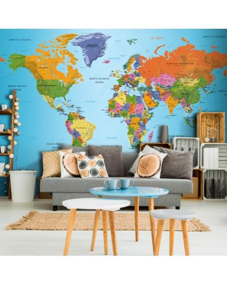 Samolepilna fototapeta World Map Colourful Geography