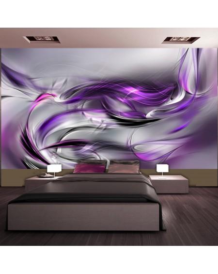 XXL stenska poslikava - Purple Swirls II