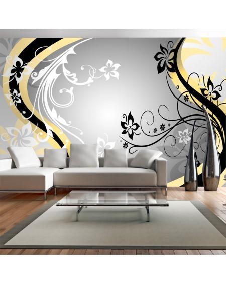 XXL stenska poslikava Artflowers (yellow)