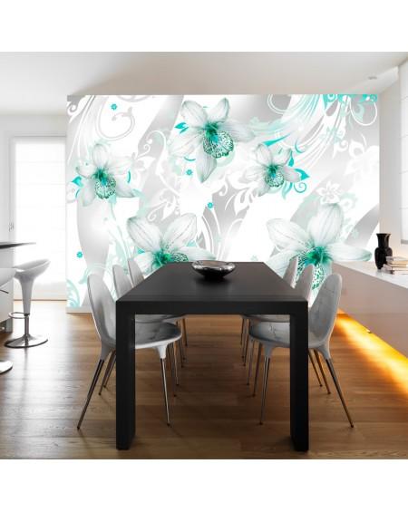 Stenska poslikava Sounds of subtlety turquoise