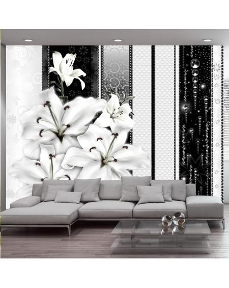 Stenska poslikava Crying lilies in white