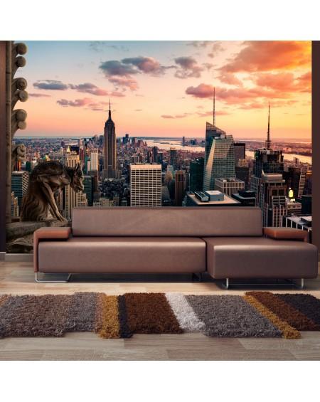 Stenska poslikava New York The skyscrapers and sunset