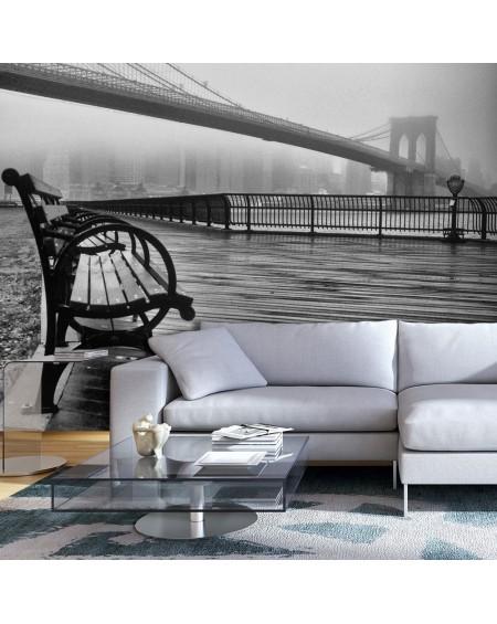 Stenska poslikava A Foggy Day on the Brooklyn Bridge